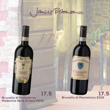 Great scores for ourBrunellos on JancisRobinson.com